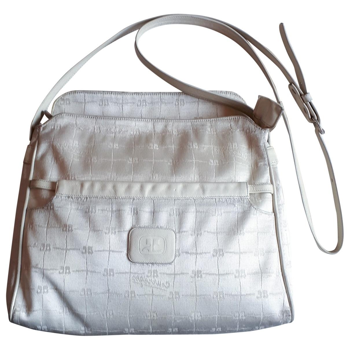 Courreges \N Handtasche in  Weiss Leinen