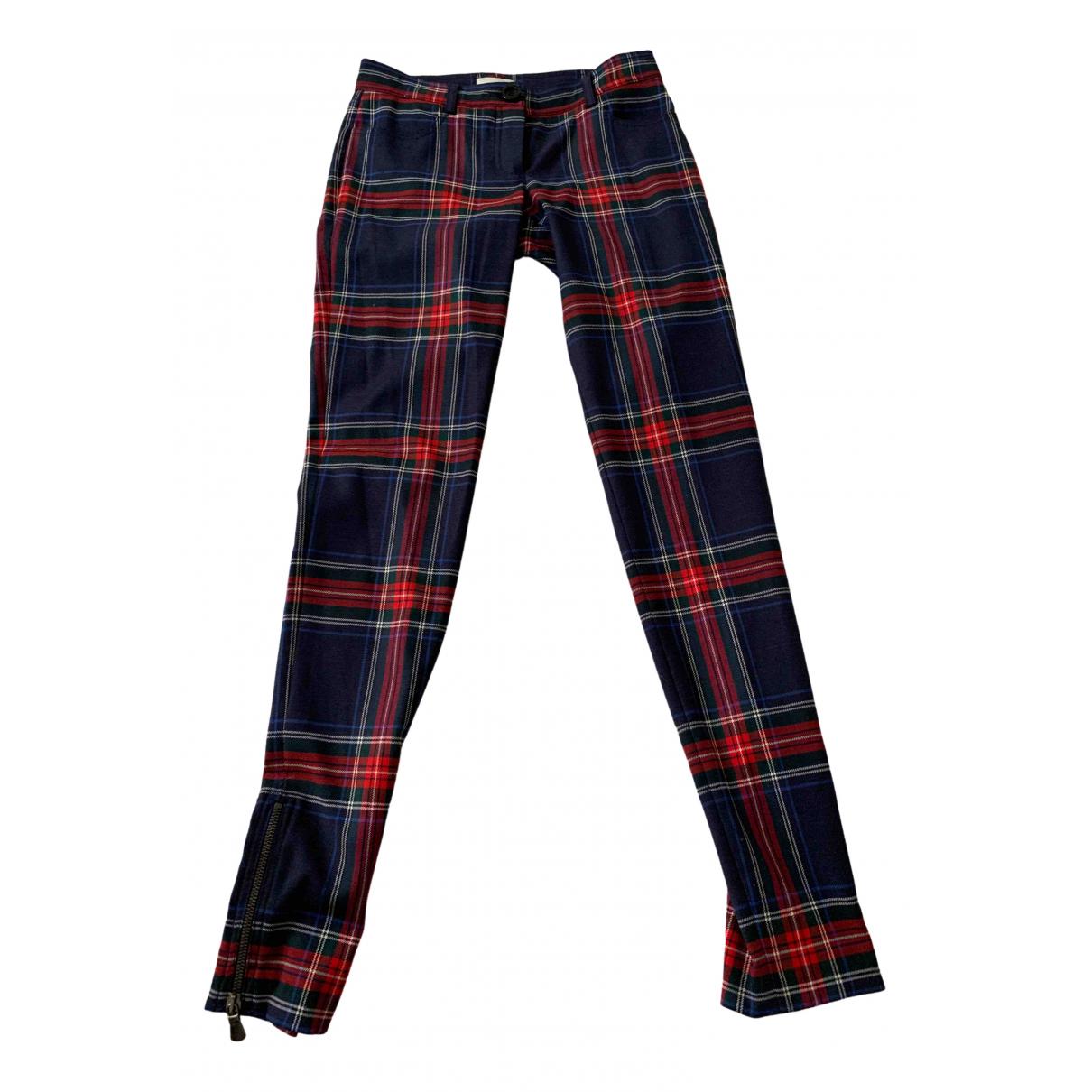 Pinko \N Blue Wool Trousers for Women 38 IT