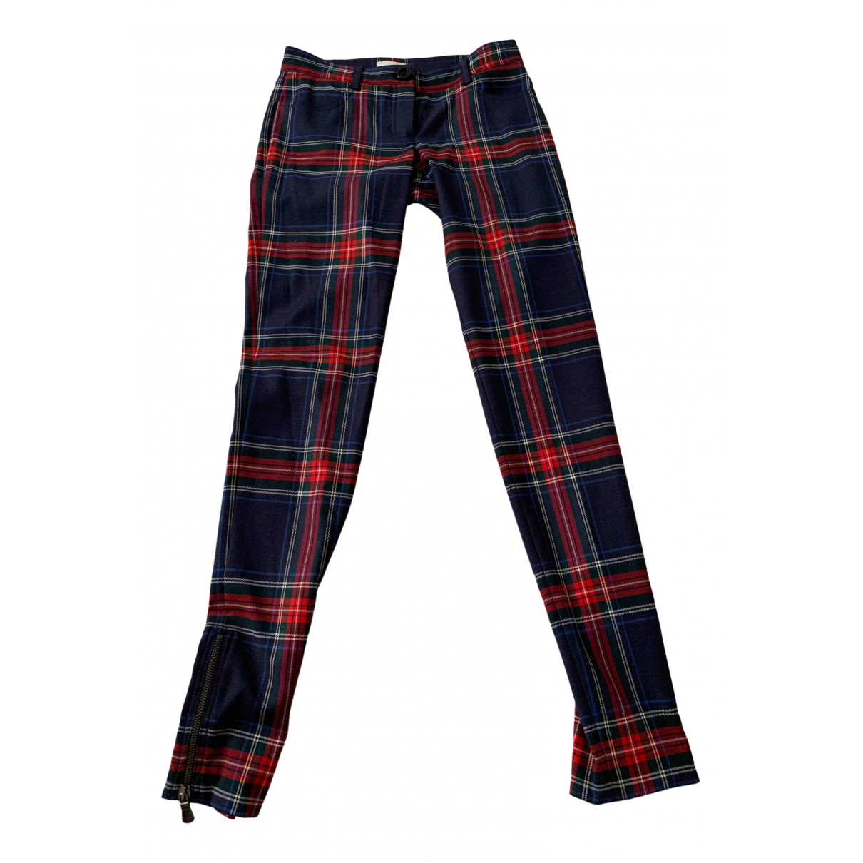 Pantalon recto de Lana Pinko