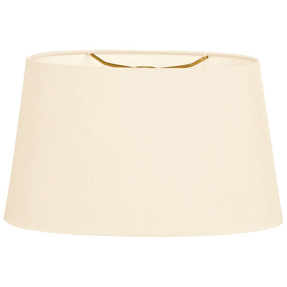 Royal Designs Shallow Oval Hardback Lamp Shade, Eggshell, 8 x 10 x 5.5 (Color)
