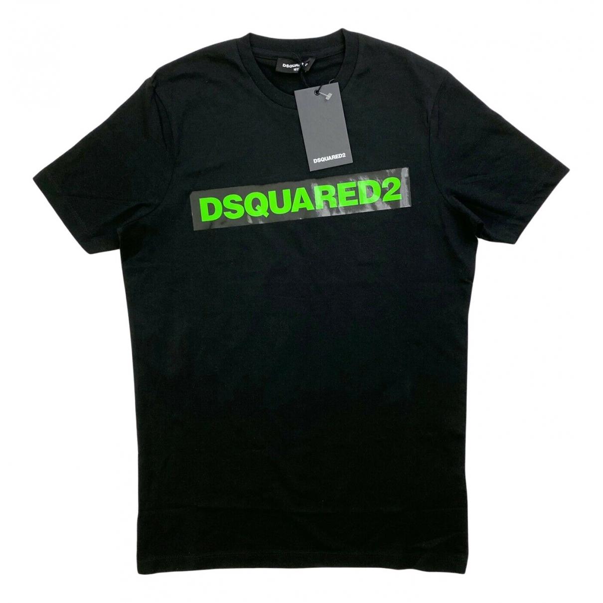 Dsquared2 \N Oberteile in  Schwarz Baumwolle