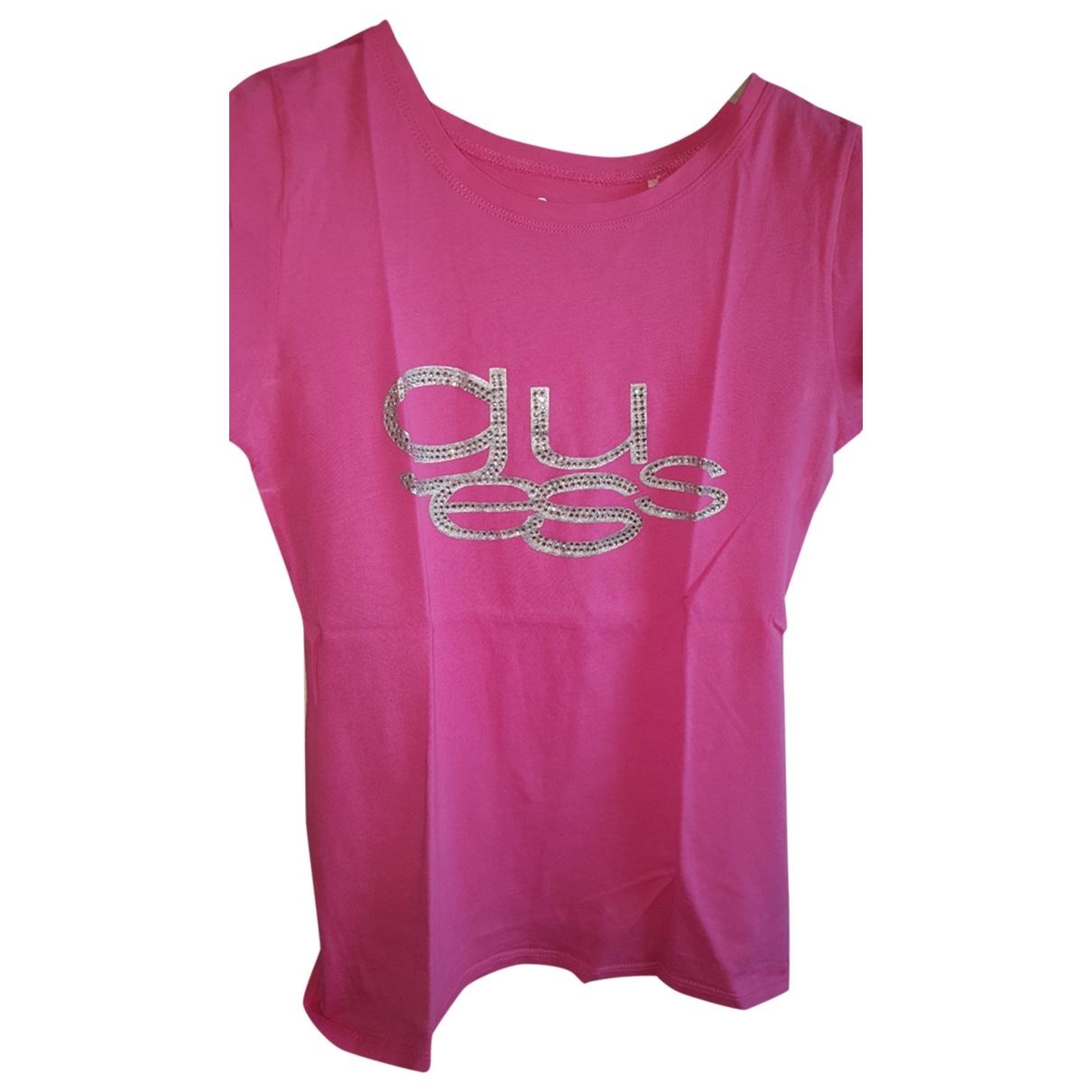 Guess - Top   pour femme en coton - rose