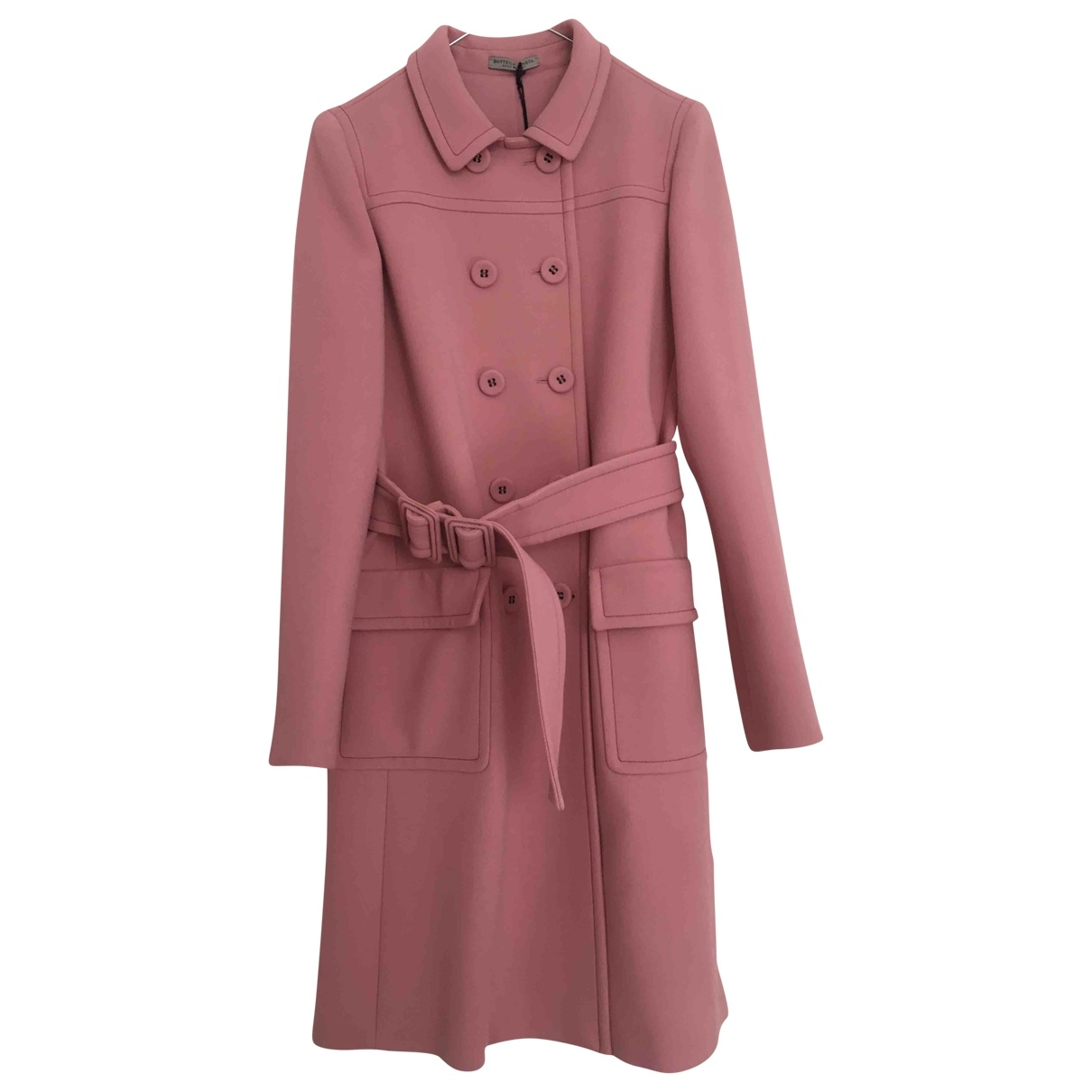 Bottega Veneta - Manteau   pour femme en laine - rose