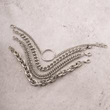 4 Stuecke Maenner Armband mit Kreis Dekor