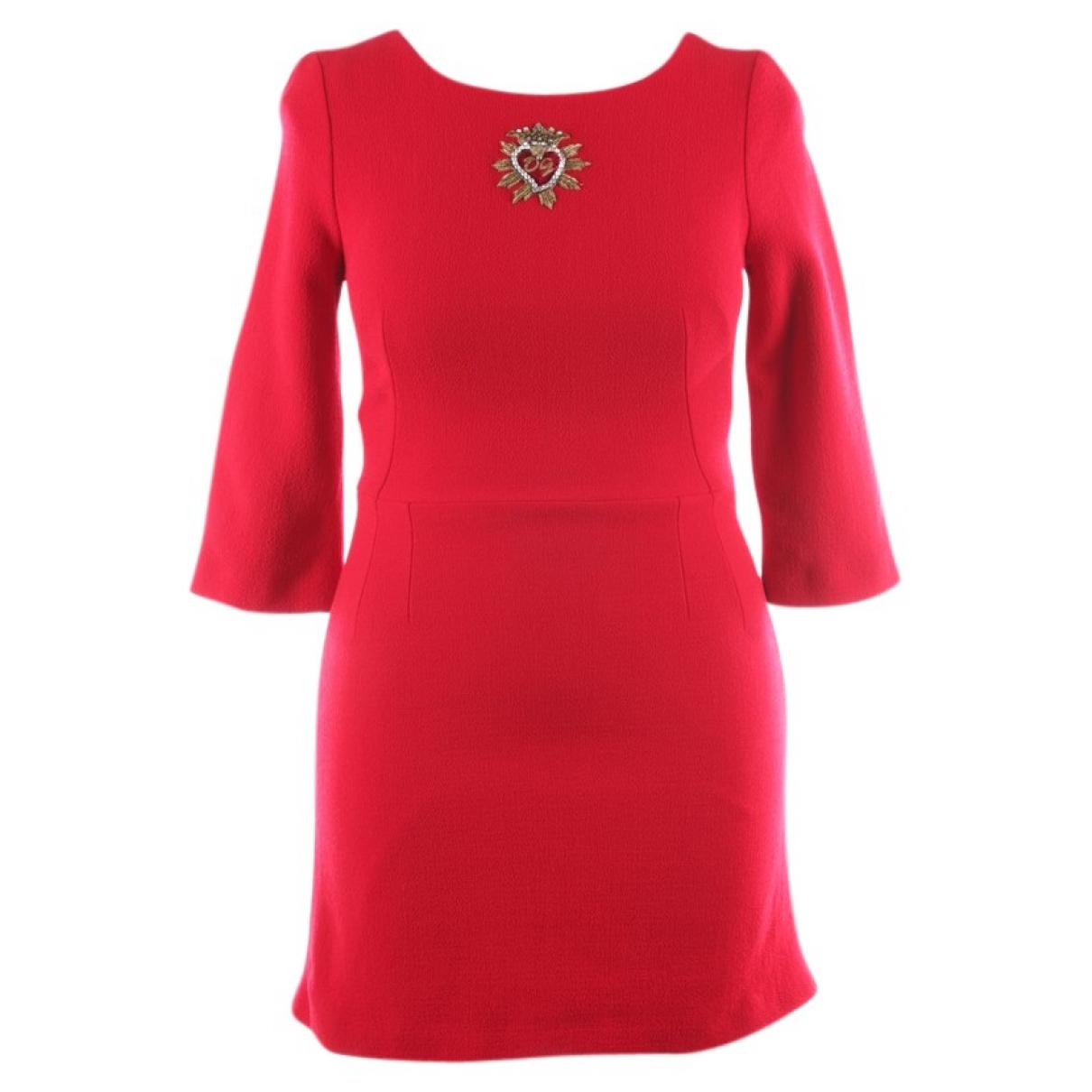 Dolce & Gabbana \N Kleid in  Rot Wolle