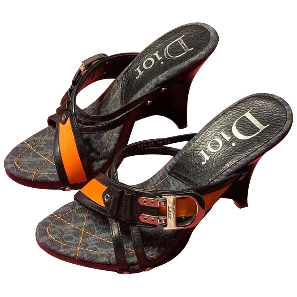 Dior - Sandales   pour femme en cuir - bleu