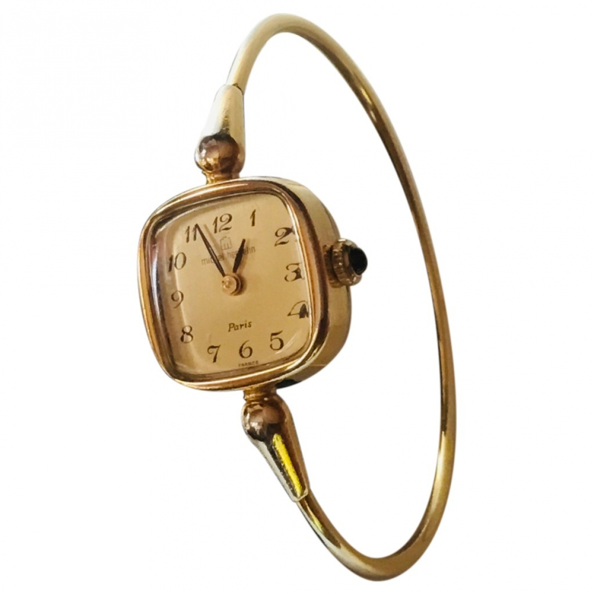 Michel Herbelin \N Gold Gold plated watch for Women \N