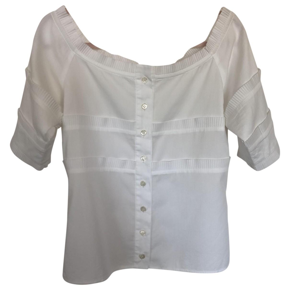 Yves Saint Laurent \N White Cotton  top for Women 40 FR