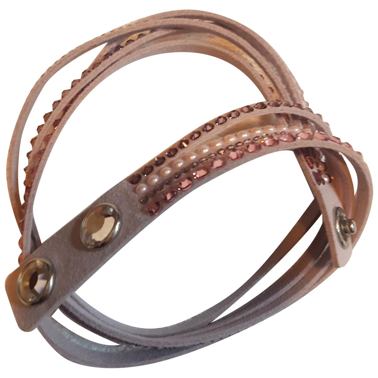 Swarovski - Bracelet Slake pour femme en cuir - rose