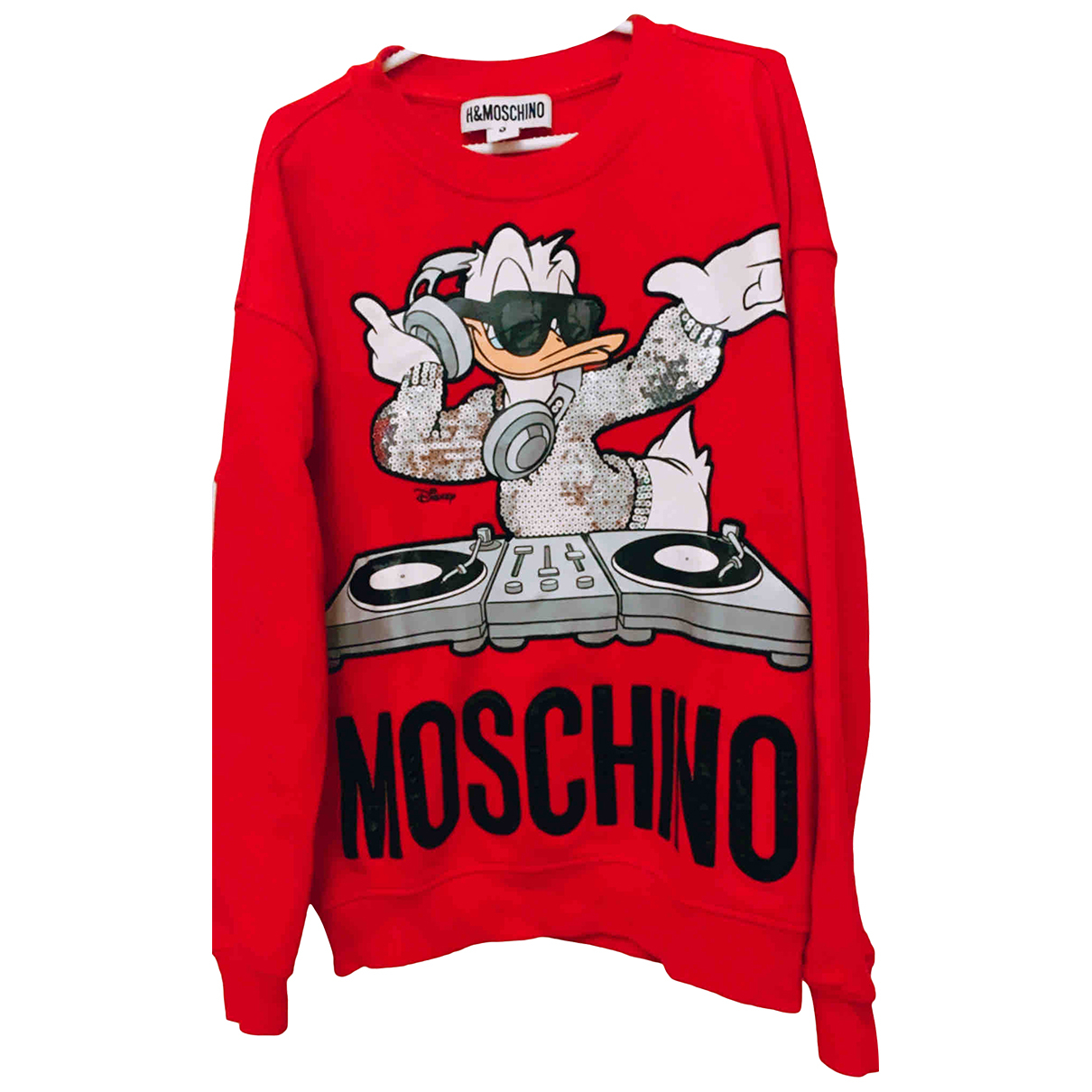 Moschino For H&m - Pulls.Gilets.Sweats   pour homme en coton - rouge