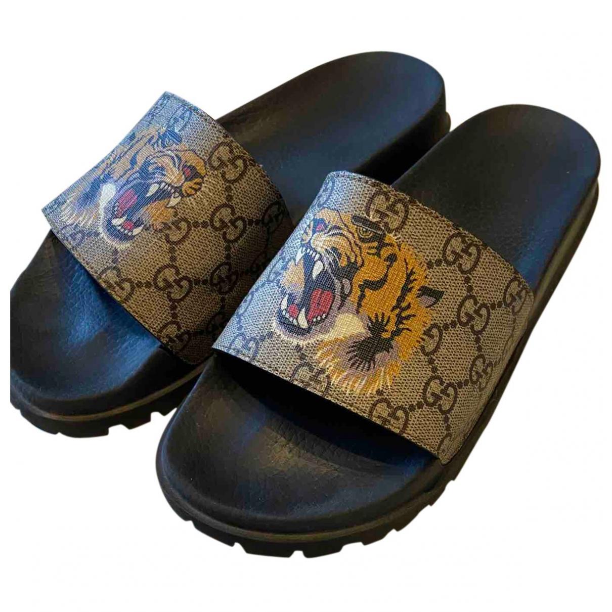 Gucci \N Beige Cloth Sandals for Men 41 EU