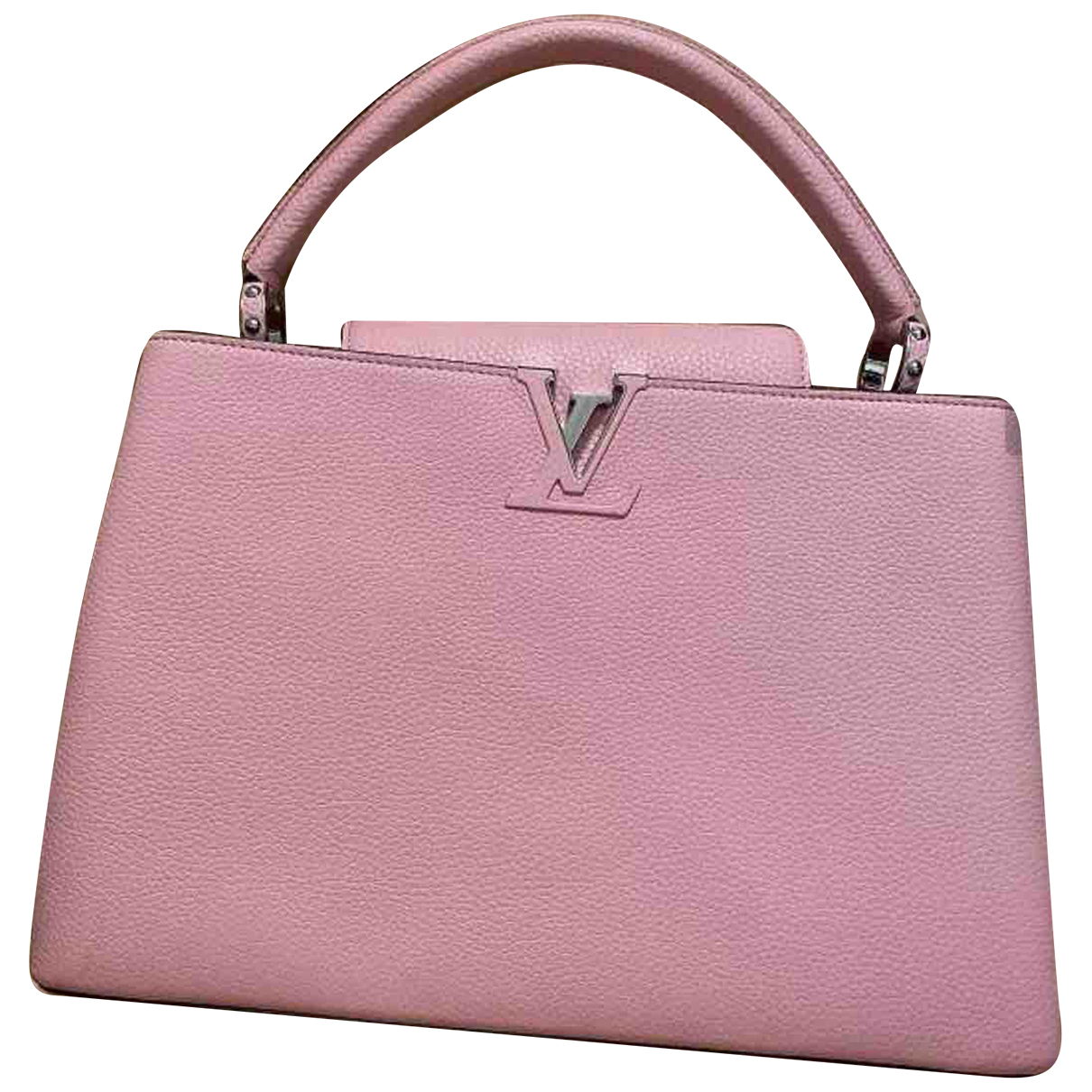 Louis Vuitton Capucines Pink Leather handbag for Women N