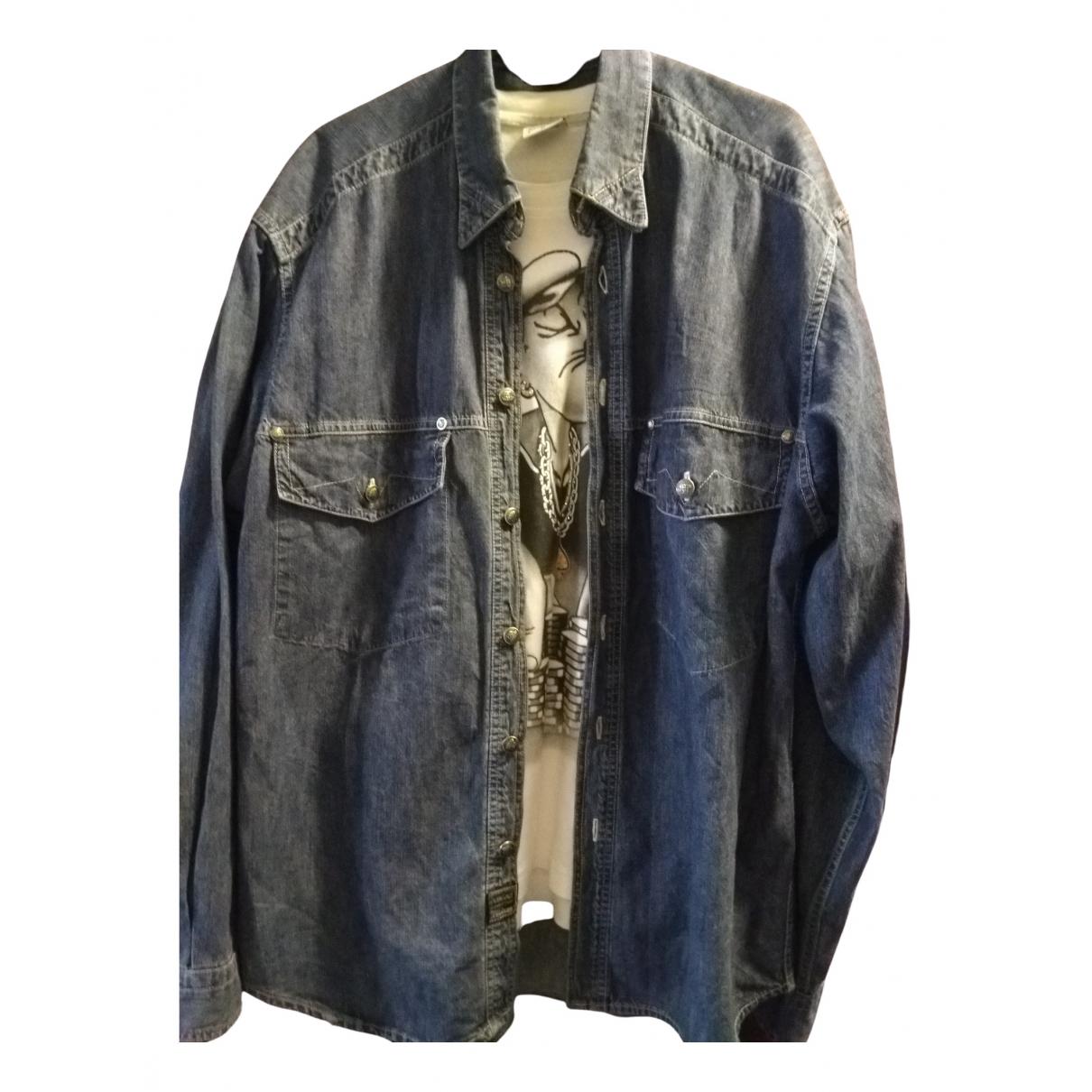 Versace Jean - Chemises   pour homme en denim - bleu