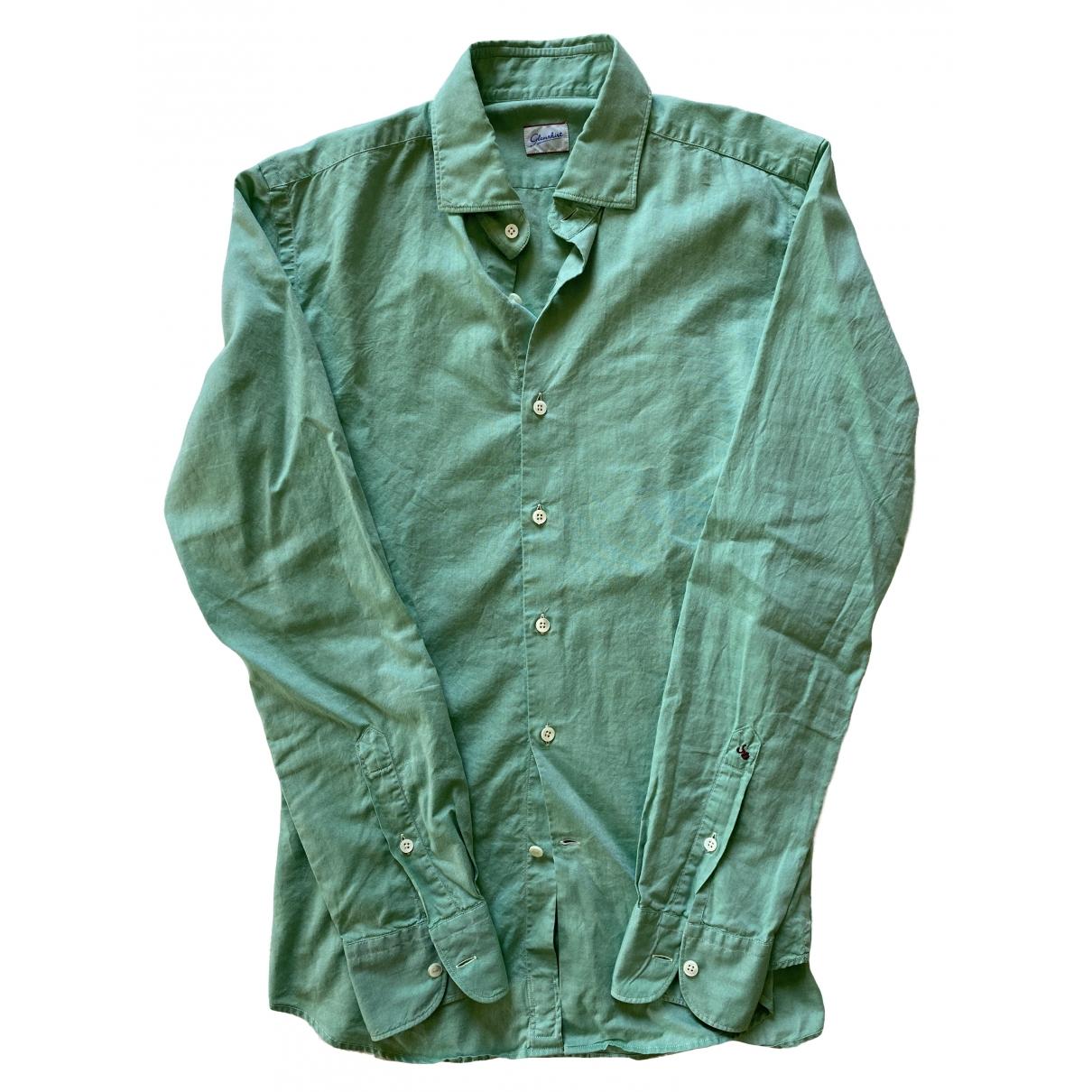 - Chemises   pour homme en coton - vert