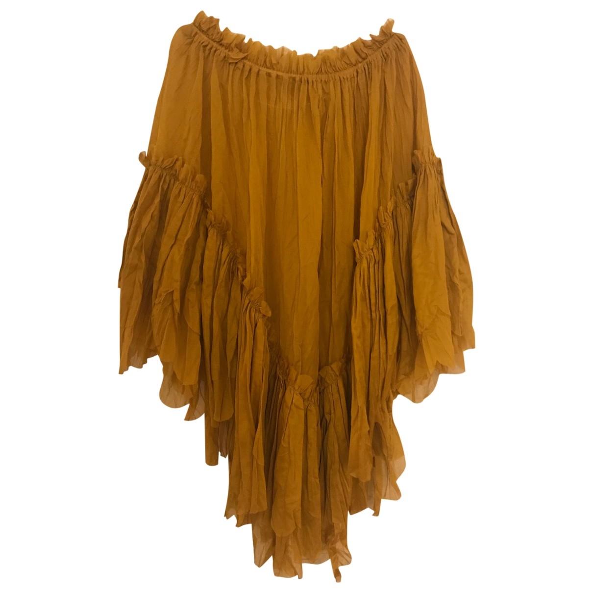 Jean Paul Gaultier - Jupe   pour femme en coton - jaune
