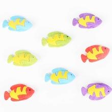 8 Stuecke Fisch formiger zufaelliger Radiergummi