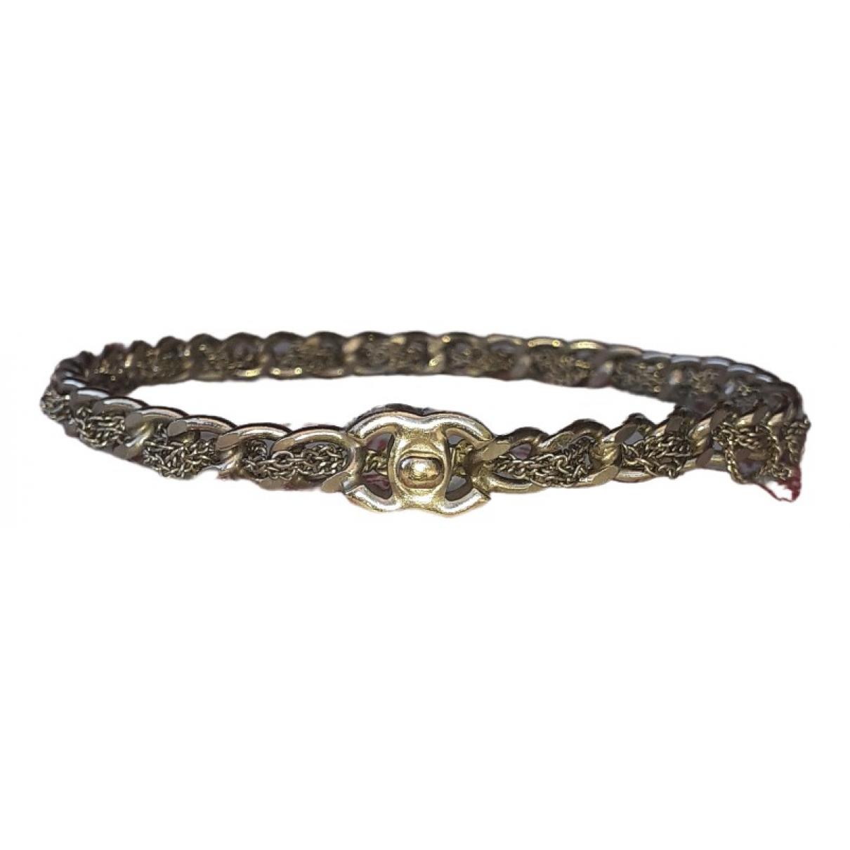 Chanel - Bracelet CC pour femme en chaine - dore