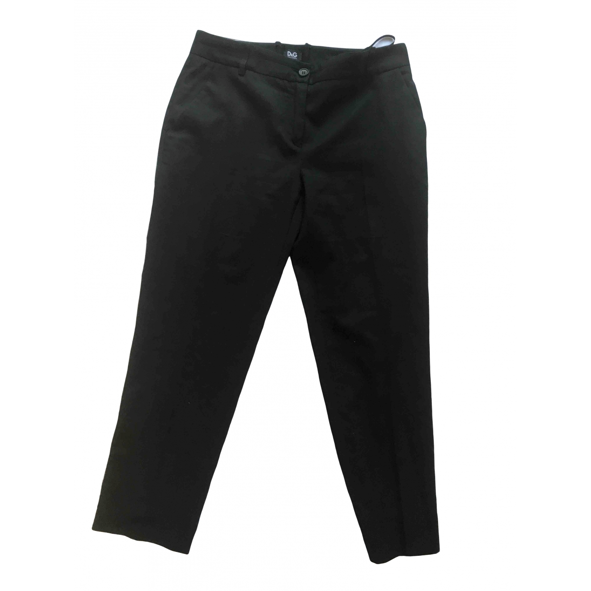 Pantalon recto de Lana D&g