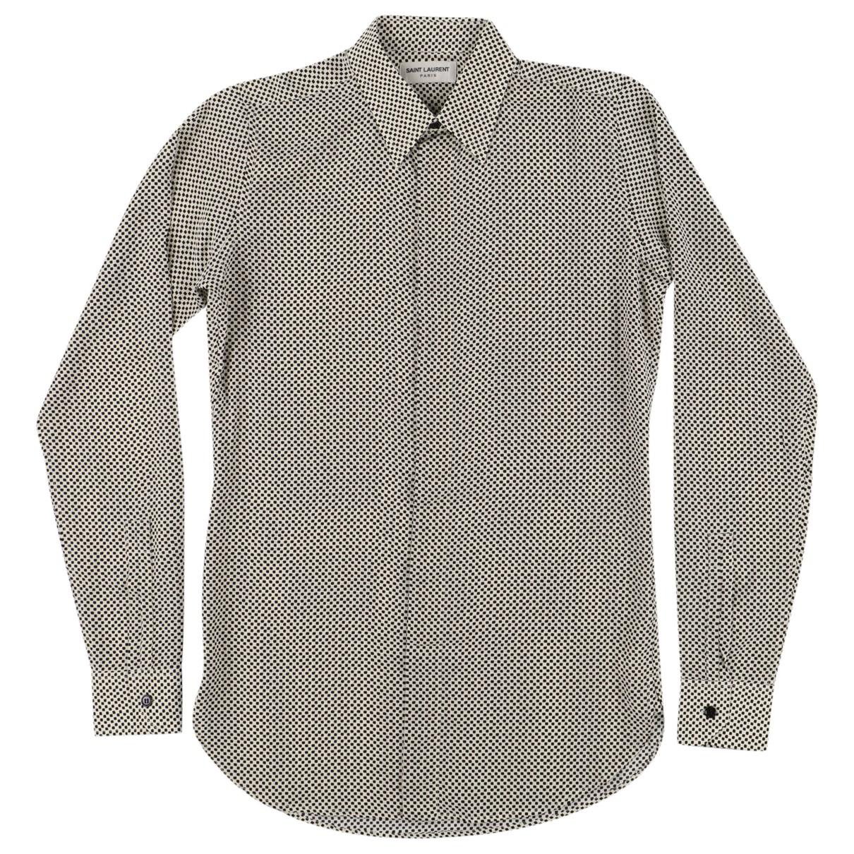 Saint Laurent \N Black Silk Shirts for Men S International