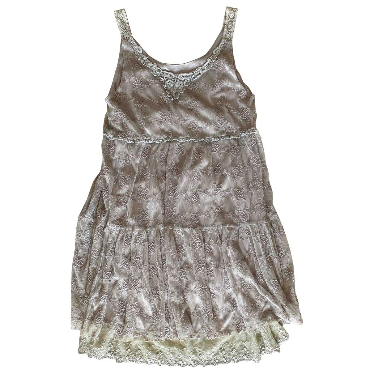 - Robe   pour femme en dentelle - gris