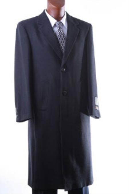 Mens Luxury Wool Hand Tailored Full Length Topcoat
