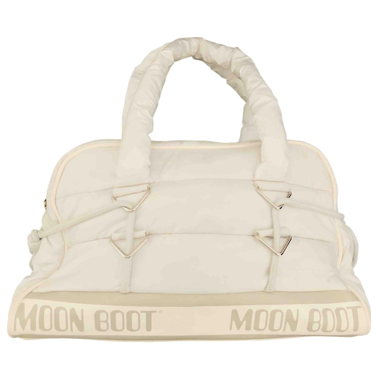 Moon Boot \N Handtasche in  Weiss Polyester