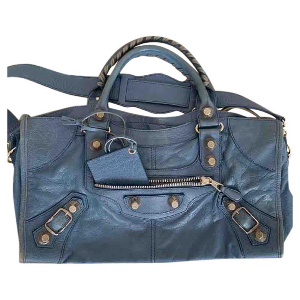Balenciaga Part Time Blue Leather handbag for Women \N
