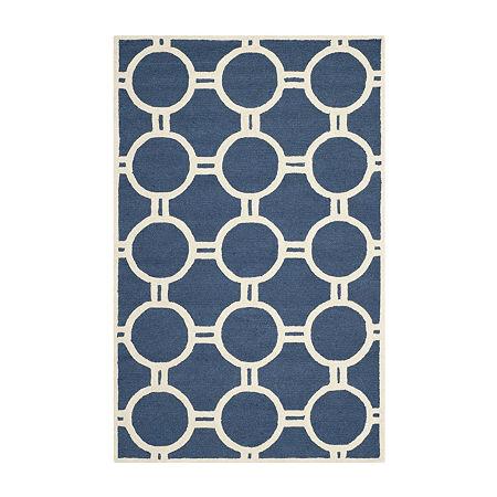 Safavieh Burke Geometric Hand-Tufted Wool Rug, One Size , Blue