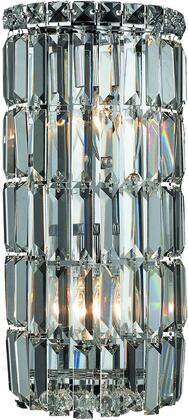 V2030W8C/SS 2030 Maxime Collection Wall Sconce D:8In H:16In E:4In Lt:2 Chrome Finish (Swarovski   Elements