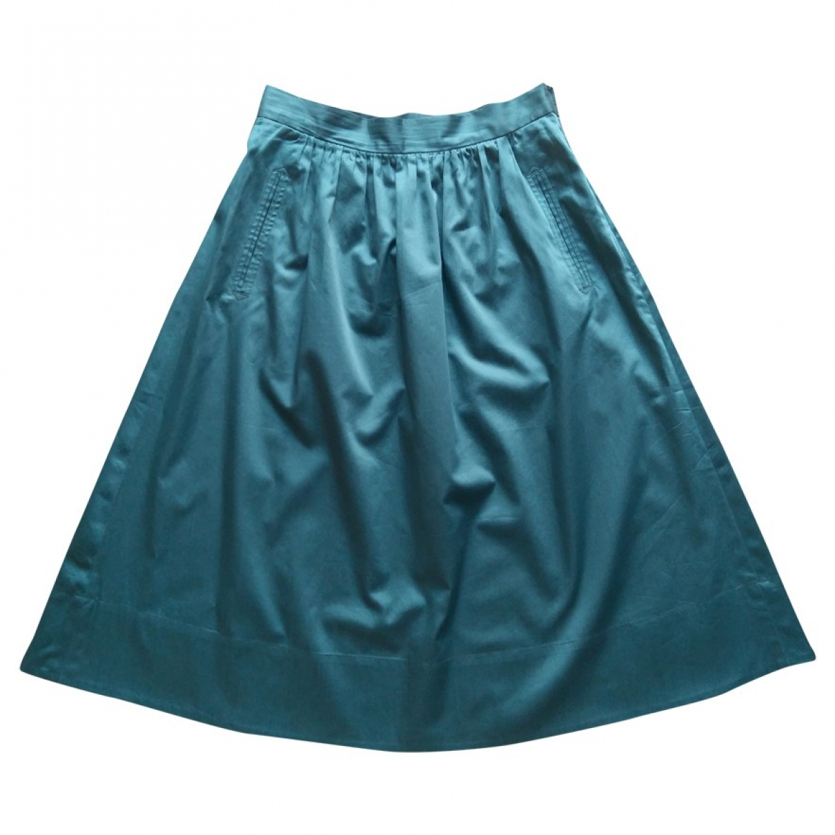 Comptoir Des Cotonniers \N Green Cotton skirt for Women 38 FR