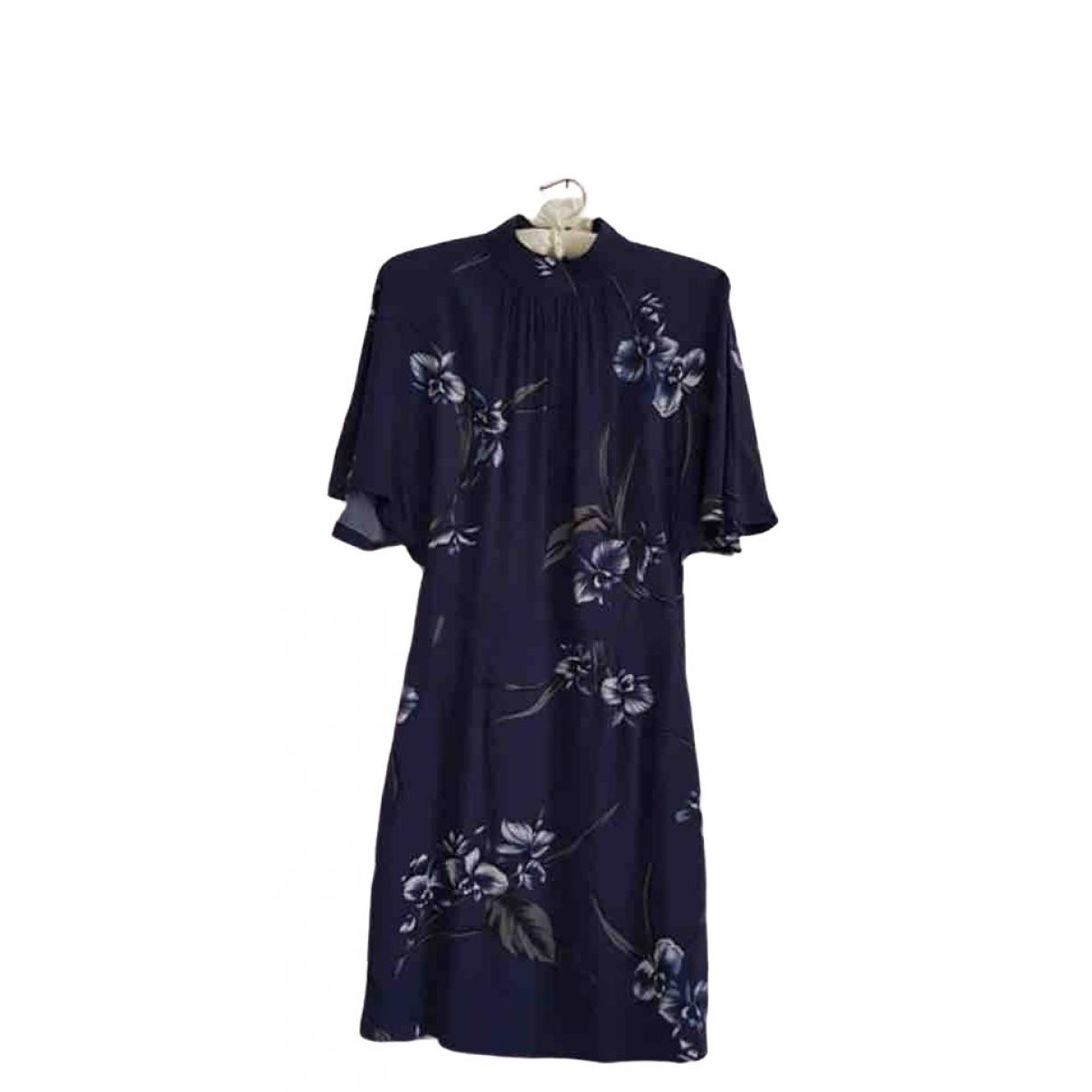 Ganni \N Kleid in  Blau Viskose