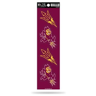 Arizona State Sun Devils Set Of 4 Decals Stickers The Quad By Rico 2X2 Inches - M (M)