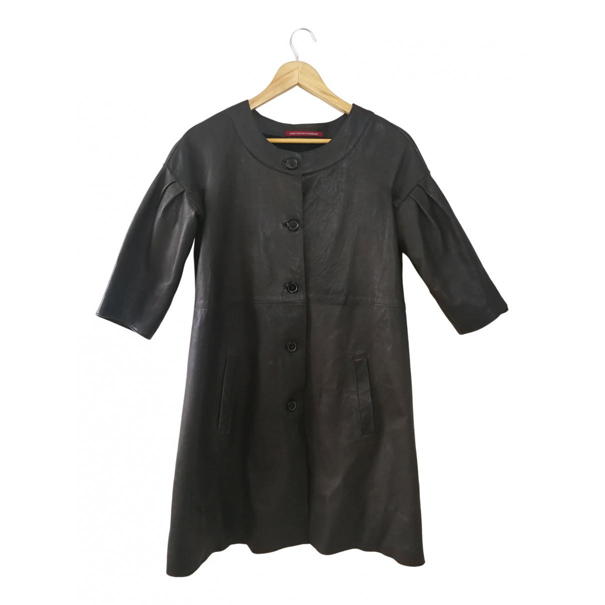 Comptoir Des Cotonniers - Manteau   pour femme en cuir - jaune