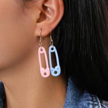 2 Paare Ohrringe mit Sicherheitsnadel Design