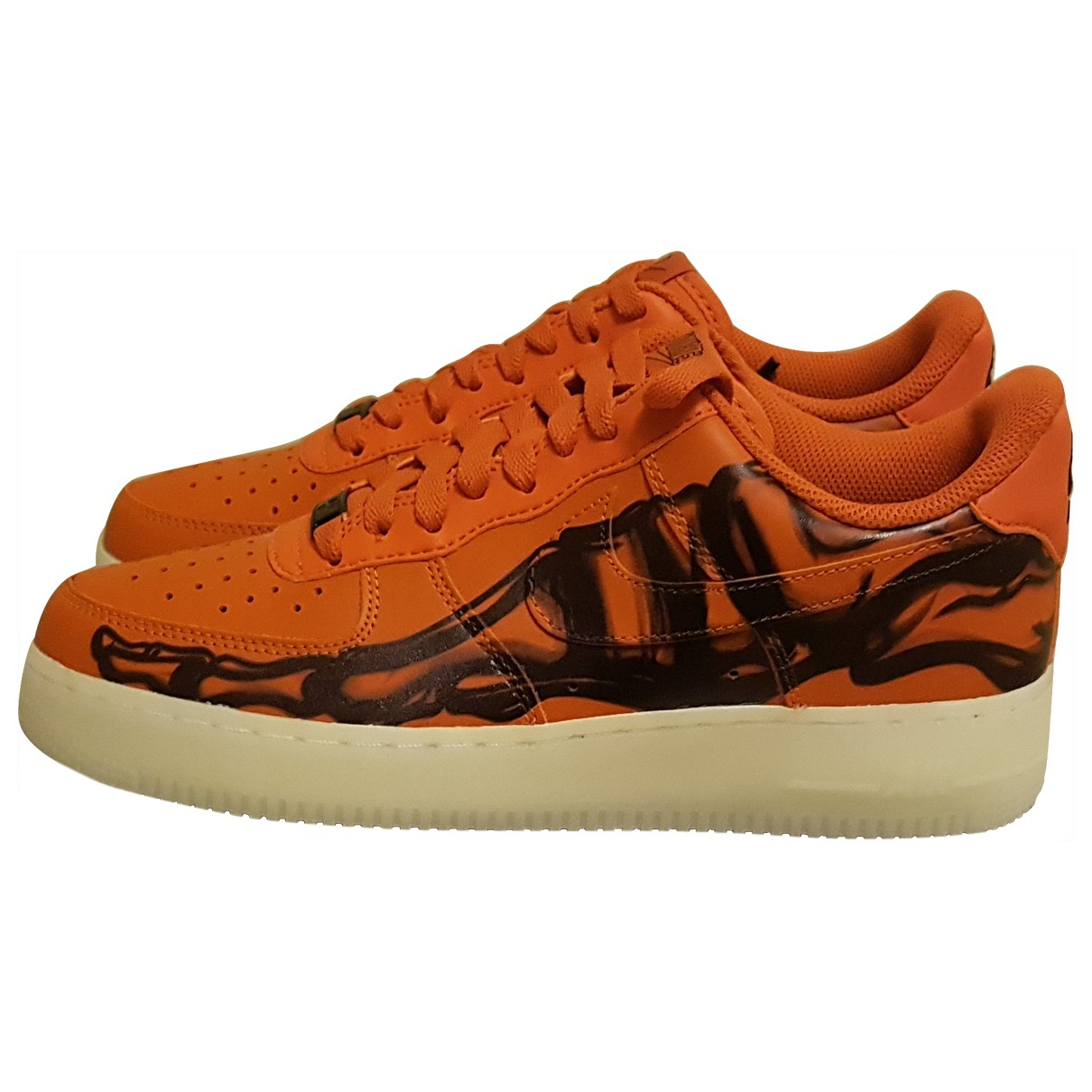Nike Air Force 1 Orange Rubber Trainers for Men 41 EU