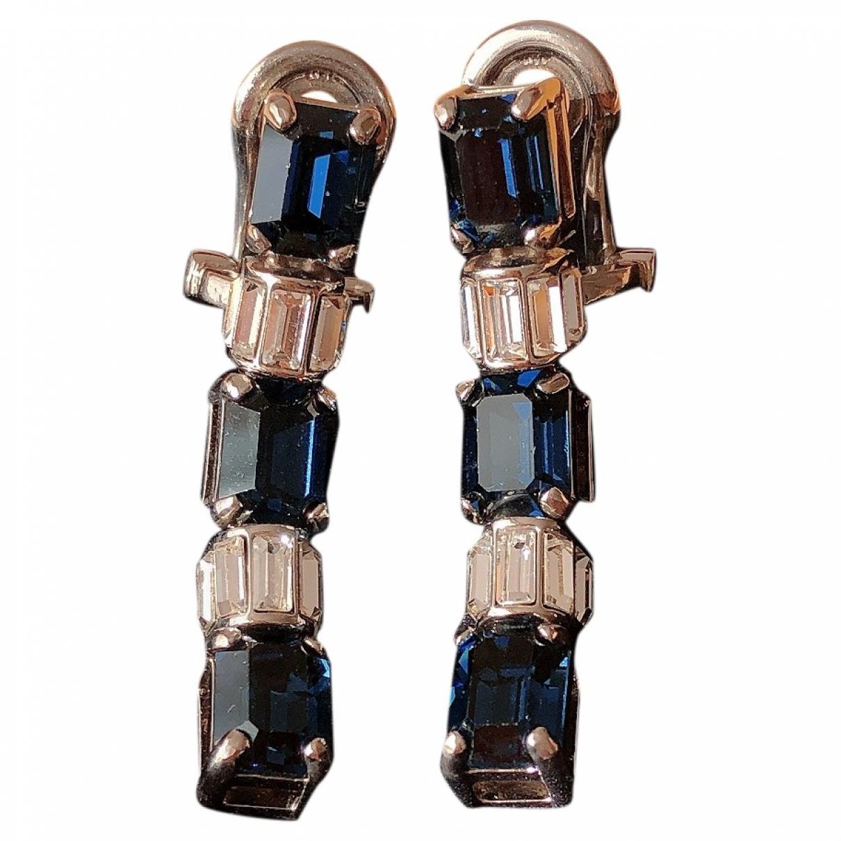 Prada \N OhrRing in  Blau Metall
