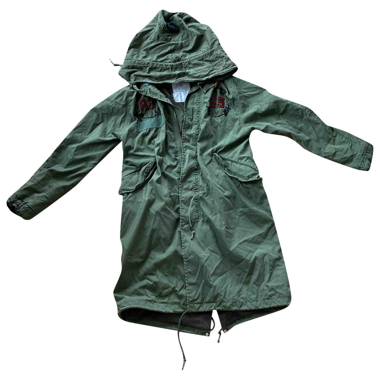 As65 \N Khaki Cotton jacket for Women M International