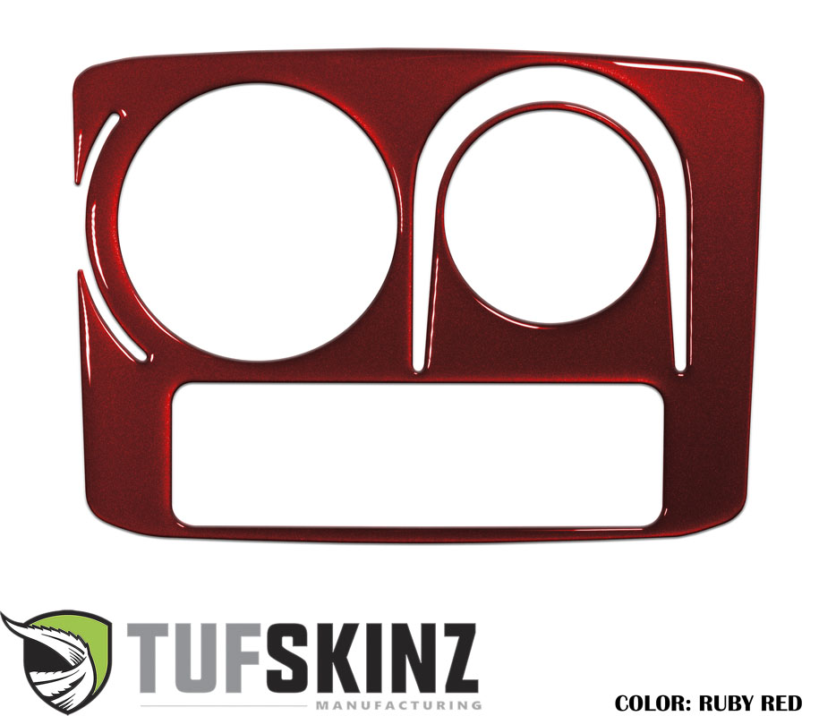 Tufskinz RUN026-SNR-G Center Cup Holder with Rotary Dial Only Accent Trim Fits 14-up Toyota 4Runner 1 Piece Kit in Ruby Red Similar to Barcelona Red