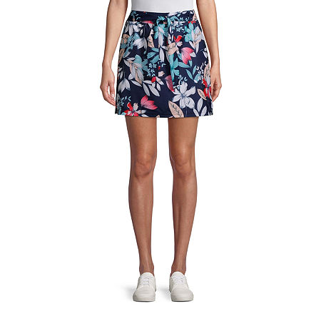 St. John's Bay Womens Mid Rise Adjustable Waist Skort, Petite X-large , Blue
