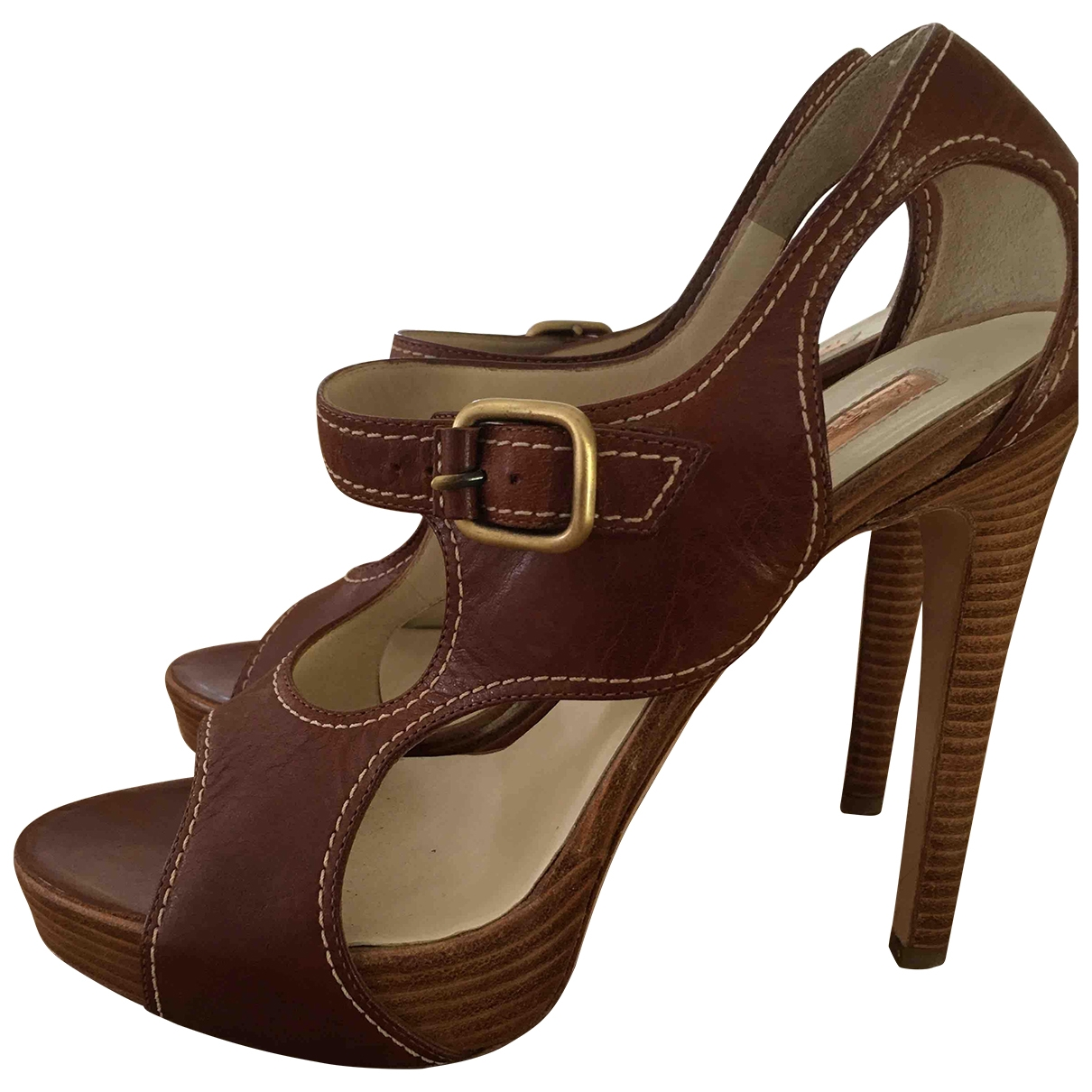 Rupert Sanderson \N Brown Leather Sandals for Women 38 EU