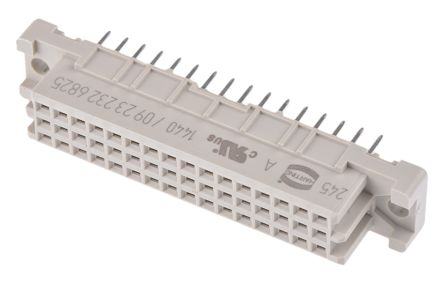 HARTING , 09 23 32 Way 2.54mm Pitch, Type 2C Class C2, 3 Row, Straight DIN 41612 Connector, Socket