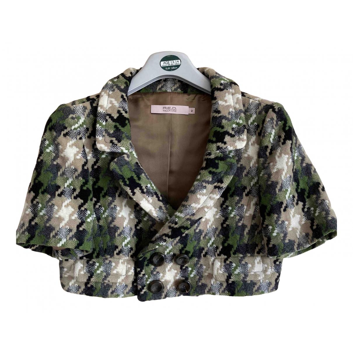 Red Valentino Garavani \N Green Wool jacket for Women 42 FR
