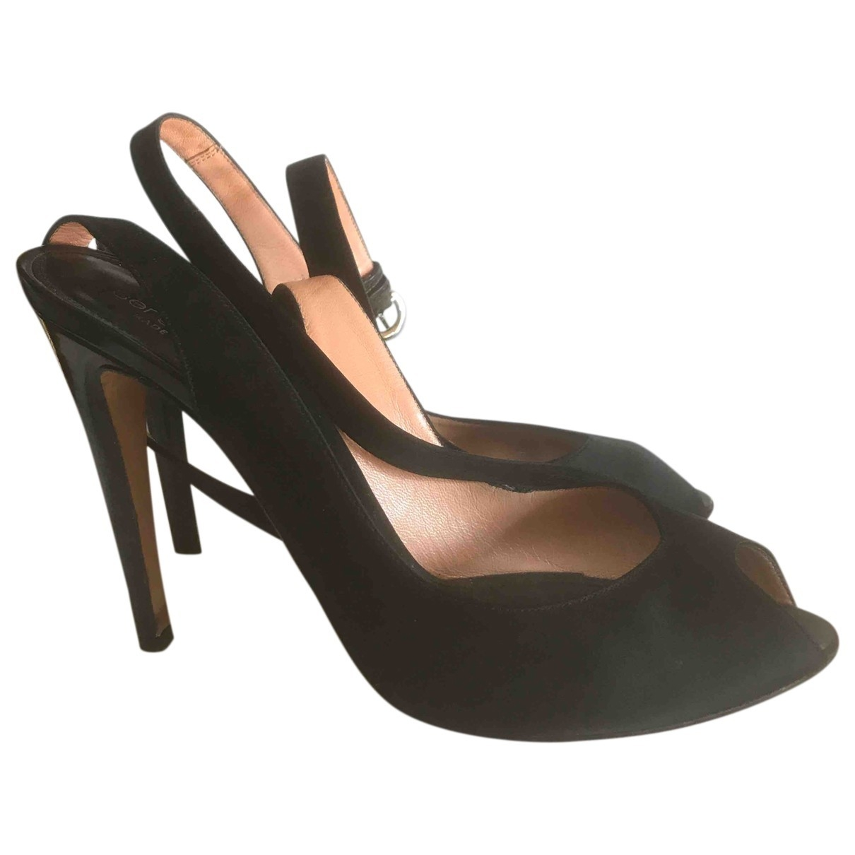 Sergio Rossi \N Black Leather Heels for Women 39.5 EU