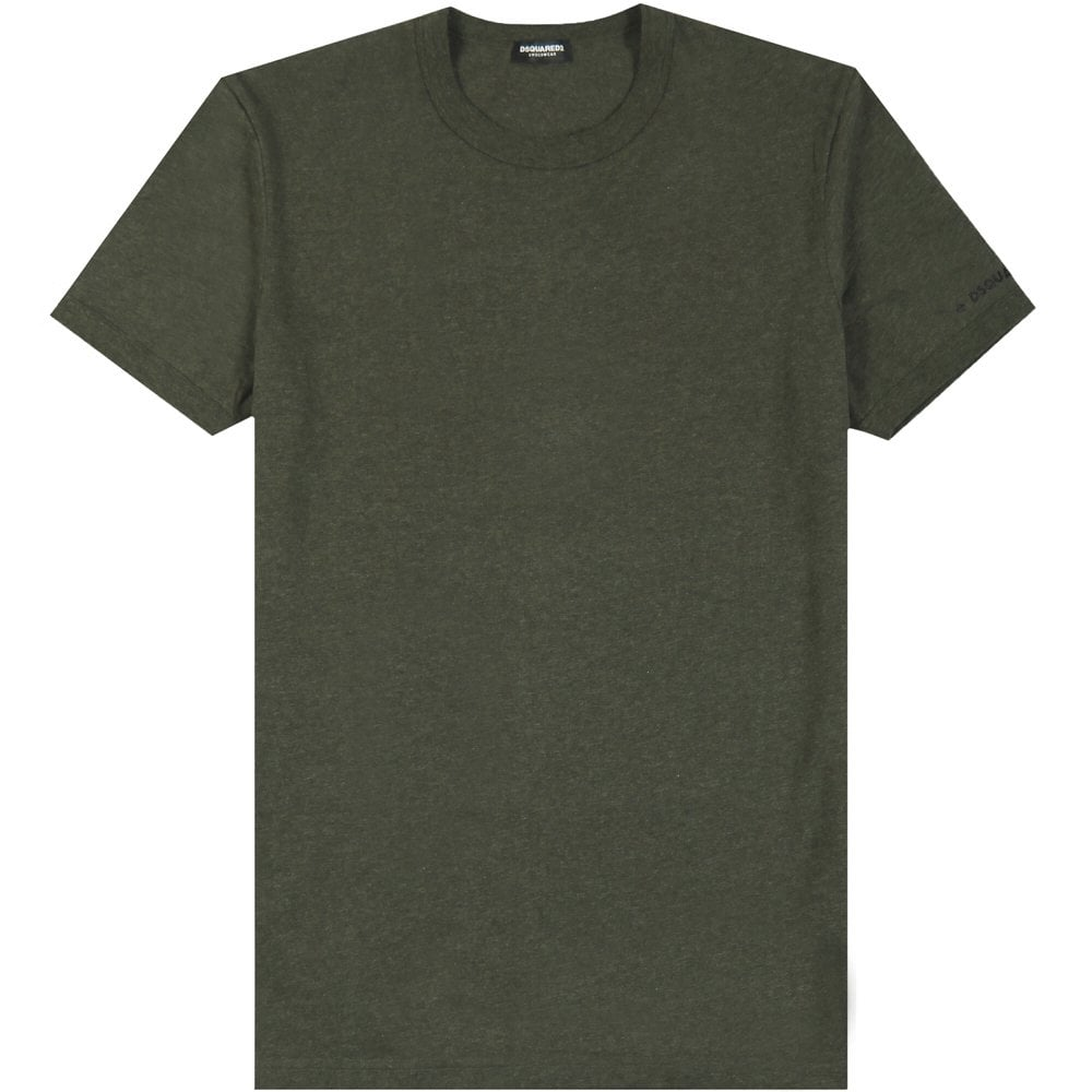 Dsquared2 Arm Logo Underwear T-Shirt Colour: KHAKI, Size: MEDIUM