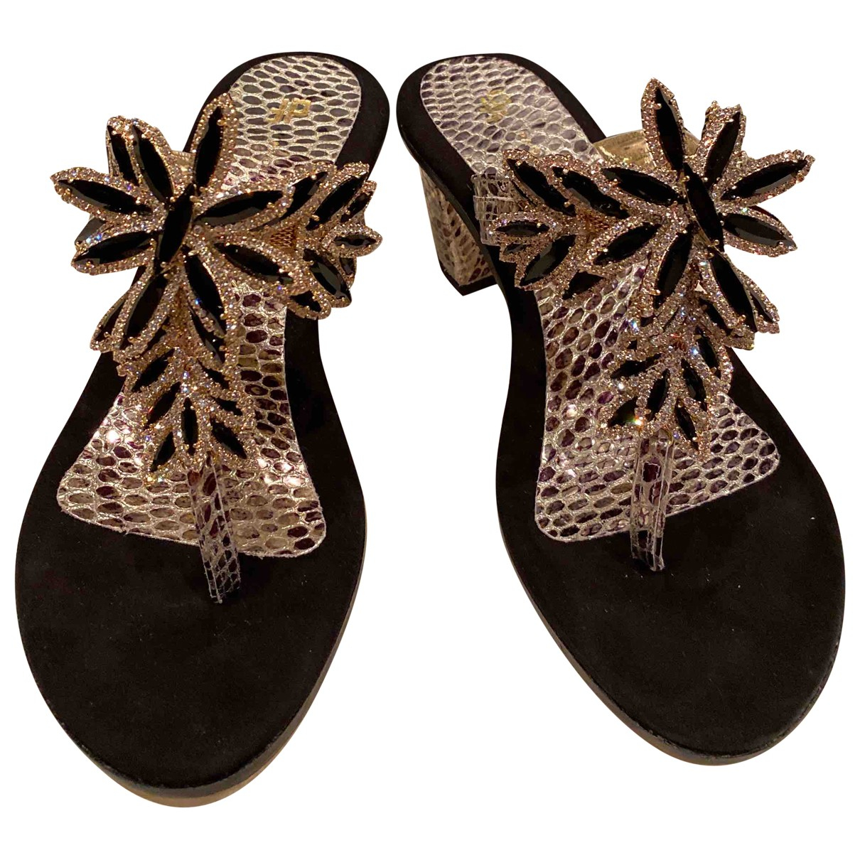 Non Signé / Unsigned \N Multicolour Leather Sandals for Women 39 EU