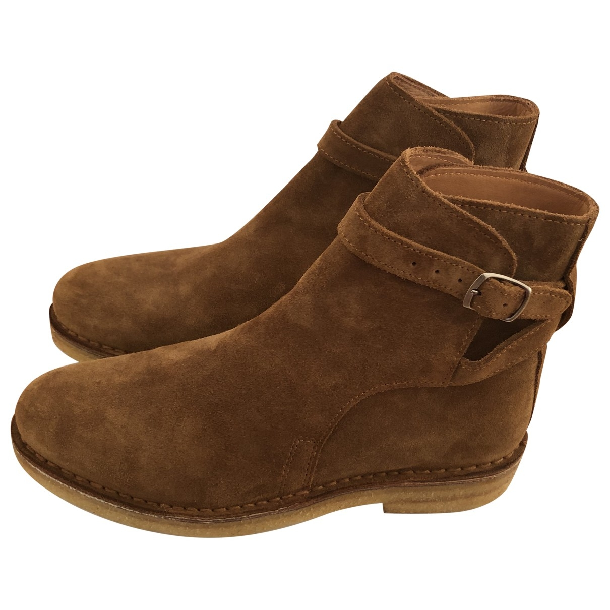 Ami \N Camel Suede Ankle boots for Women 40.5 EU