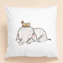 Kids Elephant Print Cushion Cover Without Filler