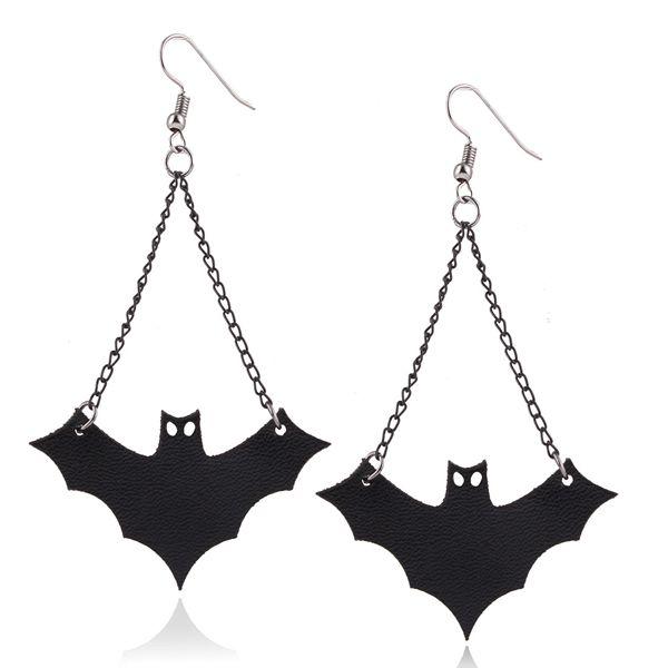 Halloween Style Black Bat Earings