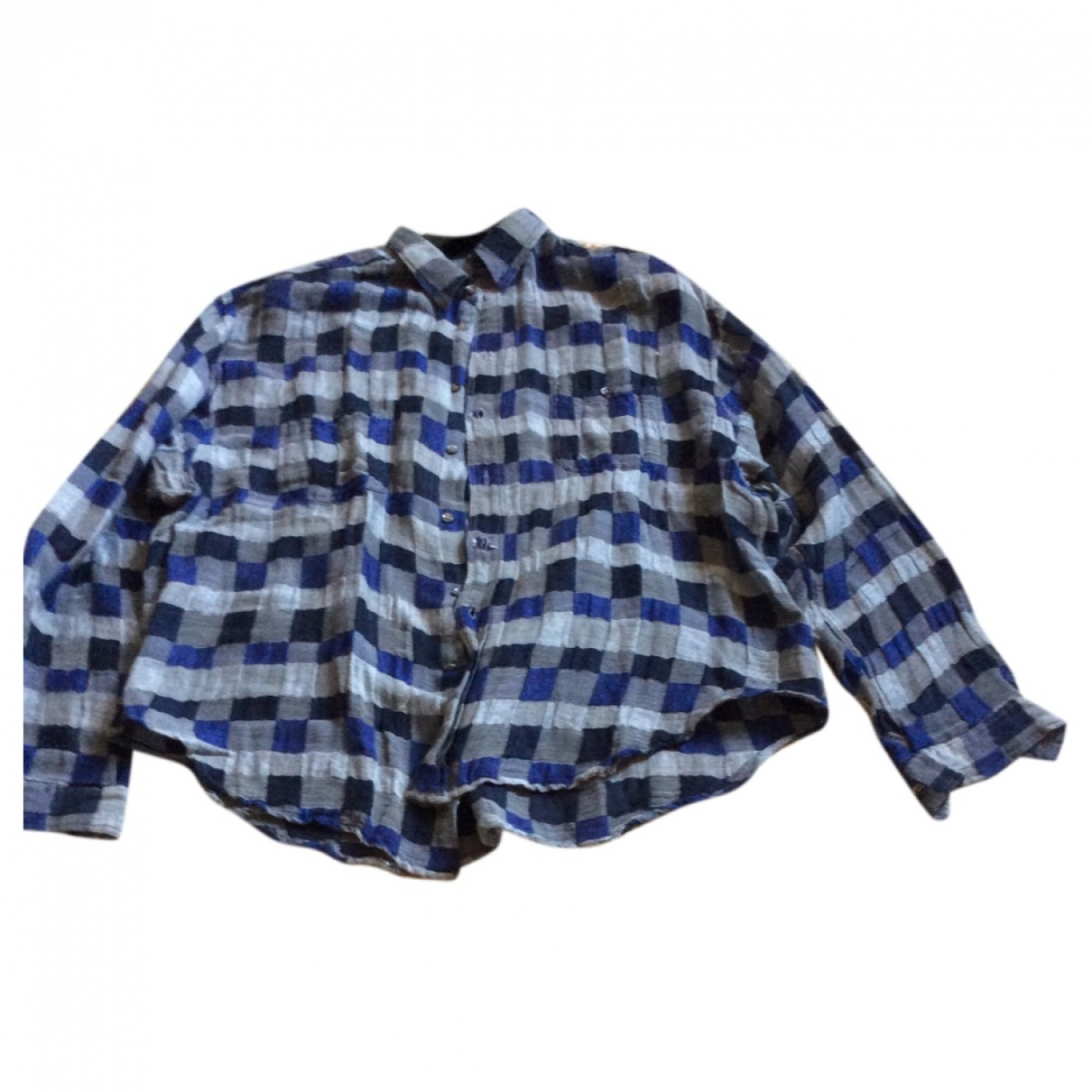 Giorgio Armani - Chemises   pour homme en coton - bleu