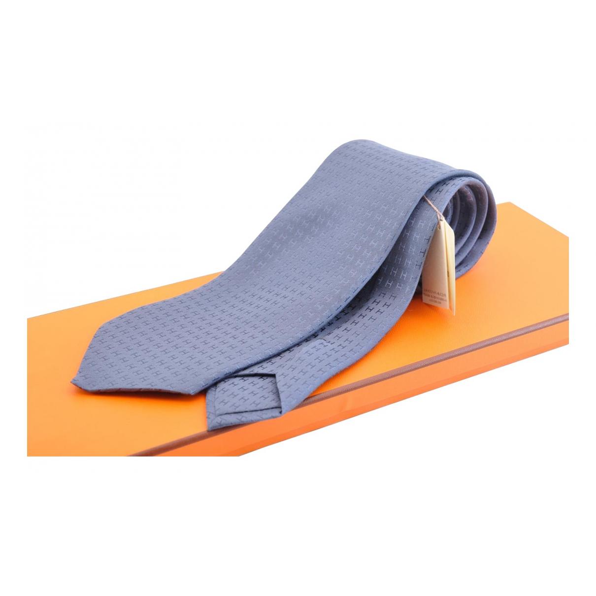 Hermès N Blue Silk Ties for Men N